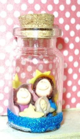 Miniatura em frasco...