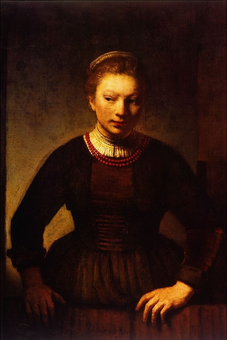rembrandt girls Hendrickje stoffels (young girl at the window) was painted by rembrandt in  1657 it was painted in the same year he completed a portrait of his son titus ( titus.