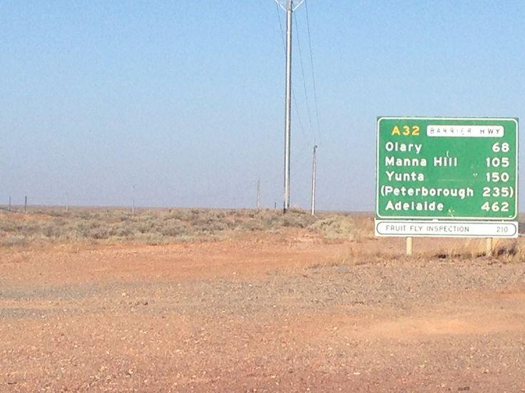 NSW / SA border  road trip