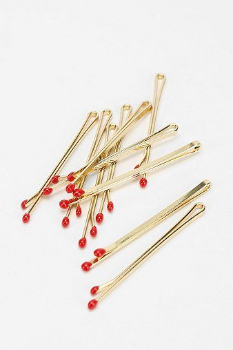 matchstick bobby pins - love these, to me they look like berries