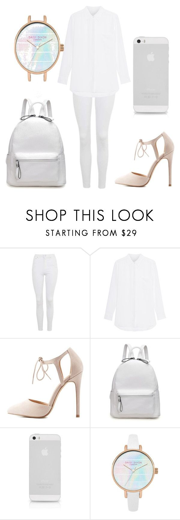 """""""Theme: White"""" by allthegamesandvids ❤ liked on Polyvore featuring Topshop and Charlotte Russe"""