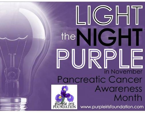 November is Pancreatic Cancer Awareness Month.  Light the night purple! #Fight_PC