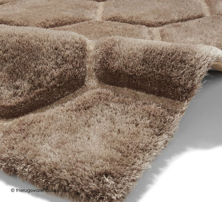 Cooper Beige Rug Texture Close Up A Shaggy Polyester Acrylic Hand