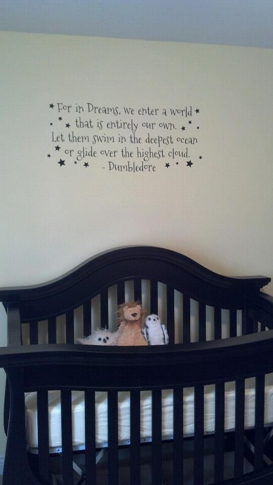 Dumbledore quote for nursery!  And this is why I love @Katie Forbes!!
