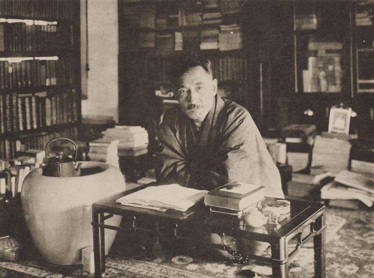 夏目漱石 大正3年(1914)12月早稲田南町の漱石山房にて