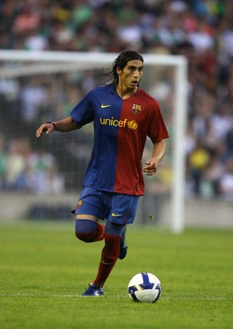 Martin Caceres, a promissing defender, played 13 matches for Barca in 2008-2011. He was mostly on loan until 2011 and signed with Sevilla.