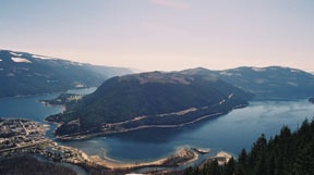 Sicamous, BC on the shores of Mara and Shuswap lakes