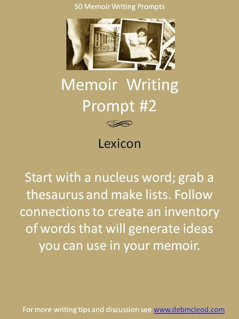 My writing clients love this exercise. A lexicon is an inventory of words you can draw from, either to use right in your copy, or to spark ideas for plot, back story and description. You can do this for a theme of your book or for a particular scene. While you are busying your internal editor with making lists, your mind is free to spark ideas off the words. For more information and examples see: http://debmcleod.com/take-the-lexicon-challenge.