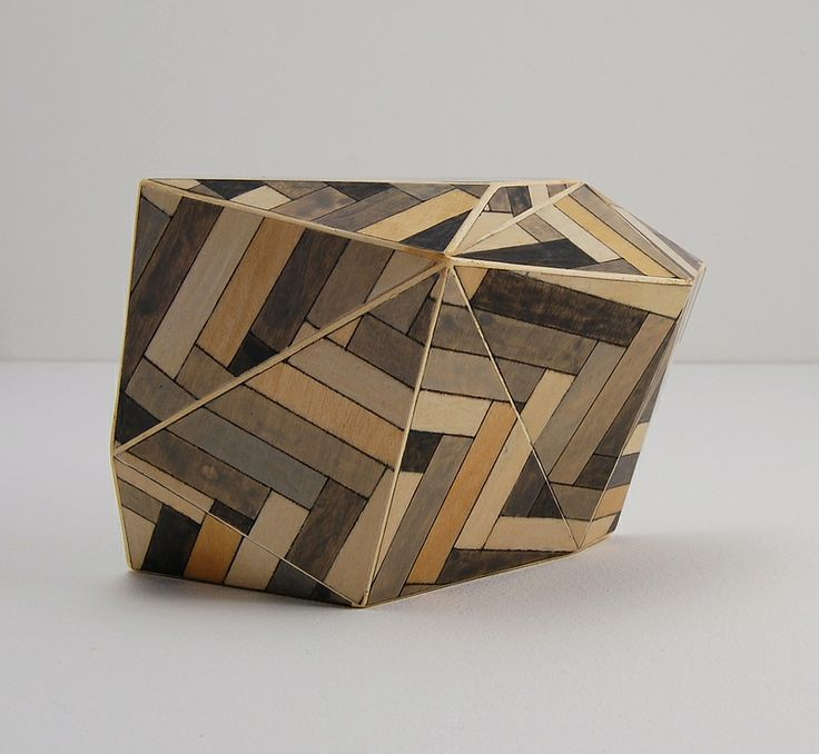 Tom Lauerman, Parquet Building Block, paper, wood, ink, gouache, shellac, 2012