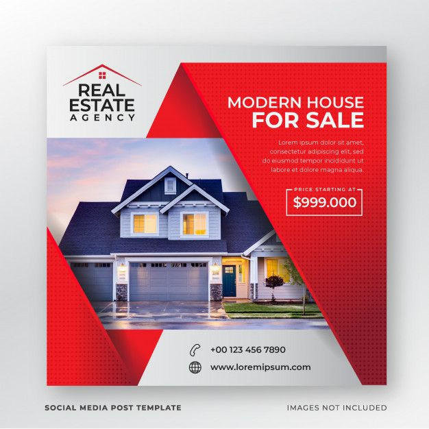 Real Estate Social Media Post Template Real Estate Banner Real Estate Marketing Design Social Media Design Inspiration