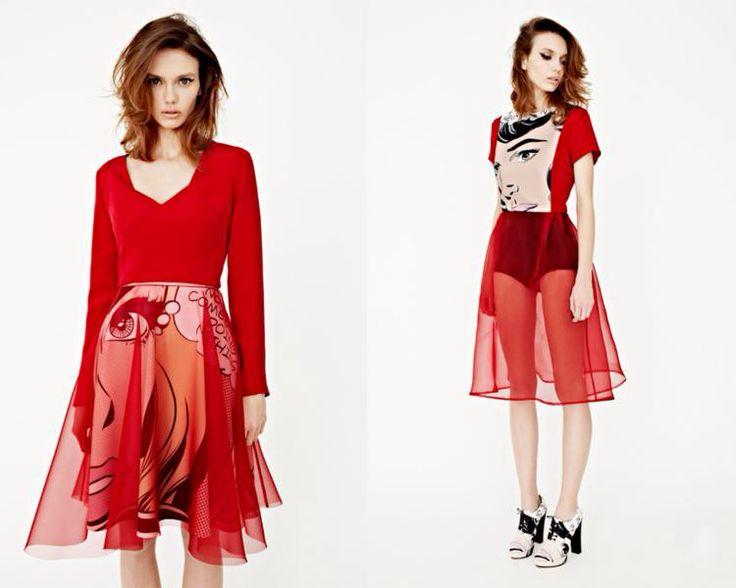 Red Dress Pop Art