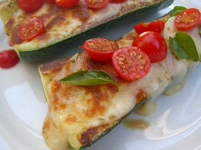 Pizza Stuffed Zucchini | Lauren's Latest