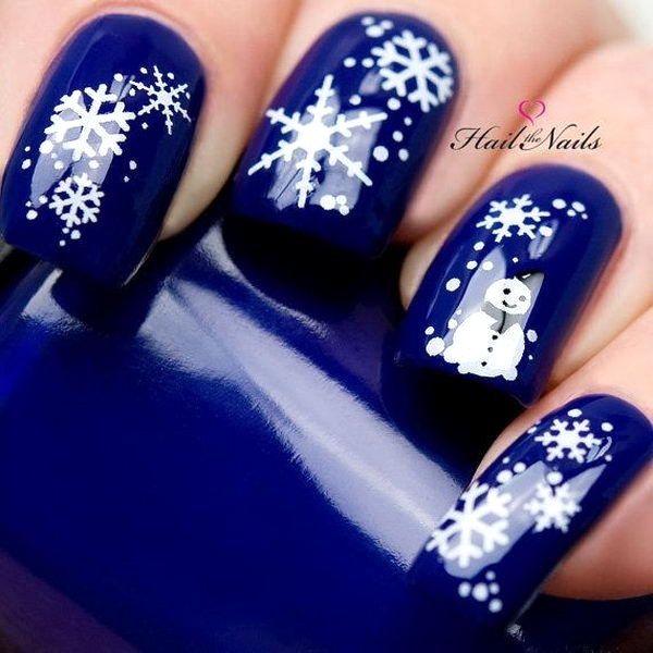 Best Christmas Winter Nail Art Designs