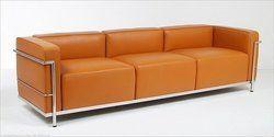 Le Corbusier LC3 Τριθέσιος Καναπές Γνήσιο Δέρμα 180cm*70cm