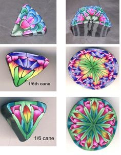 Several cane pic tutorials by kopika.ru.ua. Beautiful colors and lovely cane designs.