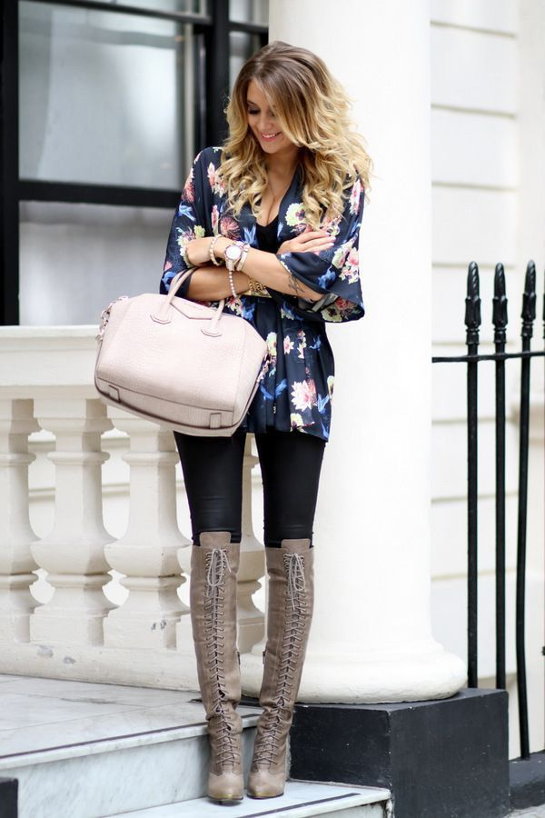 20 Style Tips On How To Wear Kimono Jackets | Kimonos Boots And How To Wear