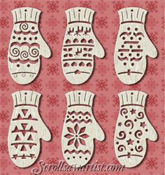 Scroll Saw Patterns :: Holidays :: Christmas :: Traditional ornaments -