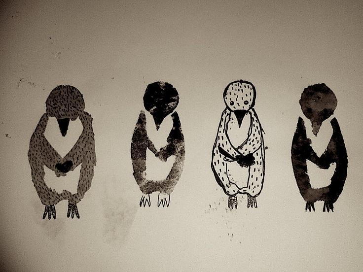 Experimentation (greeting card brief) #illustration #penguin #cute