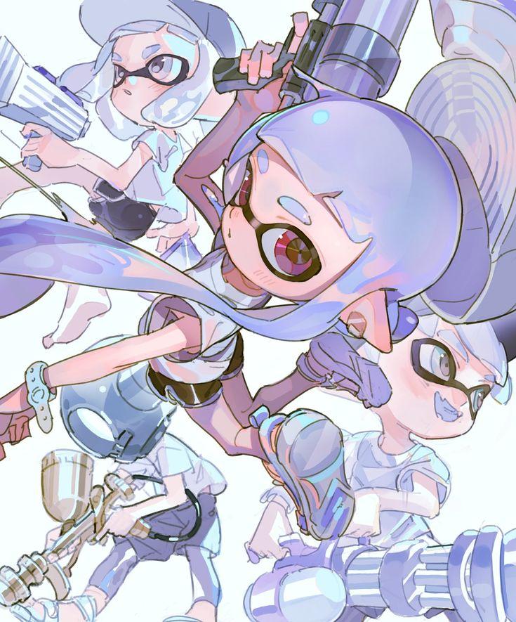 on Character sketches, Anime, Splatoon 2 art