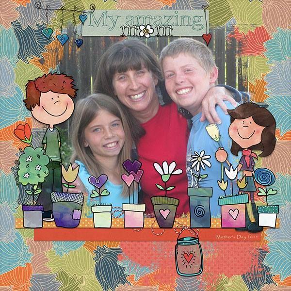 Oscraps.com :: Shop by Category :: All New :: SoMa Design: I love you Mom - Kit