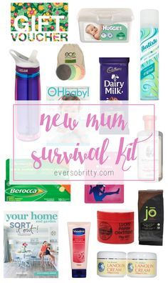 MUST HAVES. New Mum Survival Kit - All the things a new Mum will need when she has her bub! - Find more at EverSoBritty.com