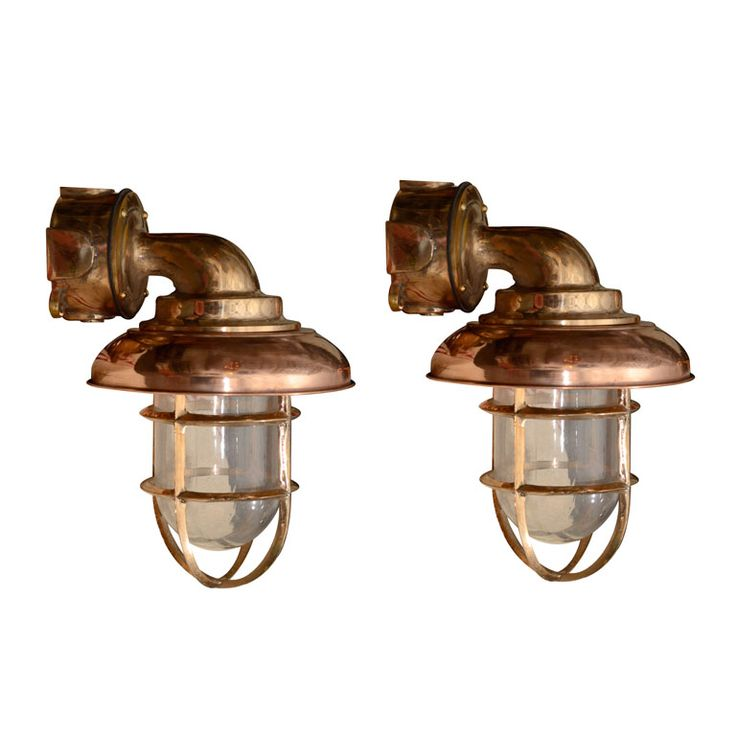 Pair Of Dutch Copper And Brass Nautical Sconces. Best Outdoor LightingCopper  ...
