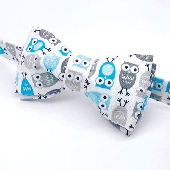 Owl Bow tie by FlyTiesforFlyGuys