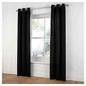 Black eyelet curtains