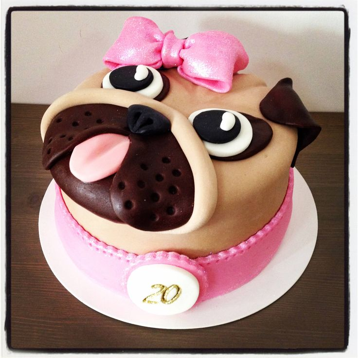 Fat Bunny Bakery, Beijing China. - Imgur. Pug birthday cake!