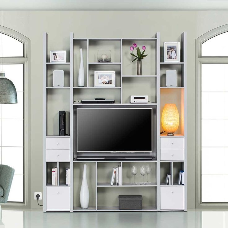TV Wand In Hellgrau Fcher Jetzt Bestellen Unter Moebelladendirektde Wohnzimmer Tv Hifi Moebel Waende Uiddd22edb7 6d4b 50fb B66c