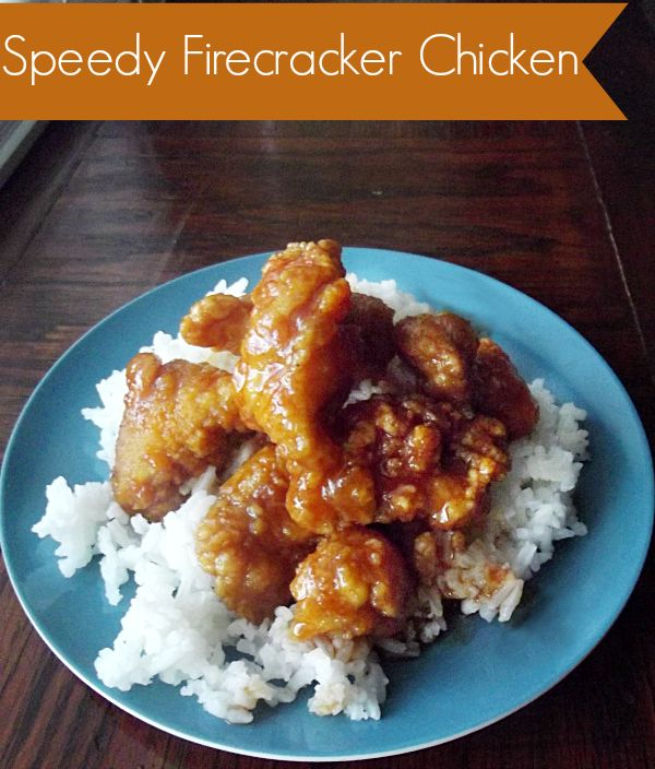 Speedy Firecracker Chicken http://www.lifewiththecrustcutoff.com/speedy-firecracker-chicken/ #firecrackerchicken #dinner #speedy