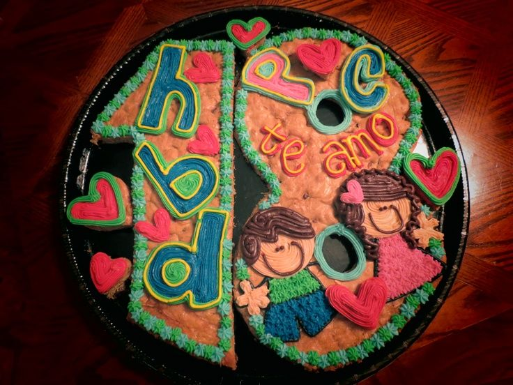 Cookie Cake Designs For Birthday : 51 best cookie cakes images on Pinterest Cookie cakes ...