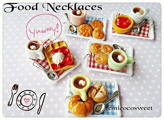 Miniature Food jewelleryKawaii necklacesKitsch by emicocosweet