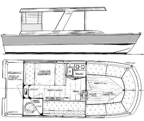 images about House Boat Floor Plan on Pinterest   Boat Plans    Houseboat   House Boat Floor Plan