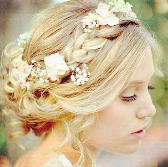 Adorable prom hair