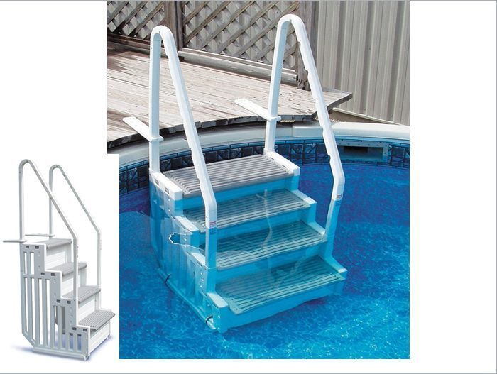 above ground swimming pool ladder summer swim steps heavy water