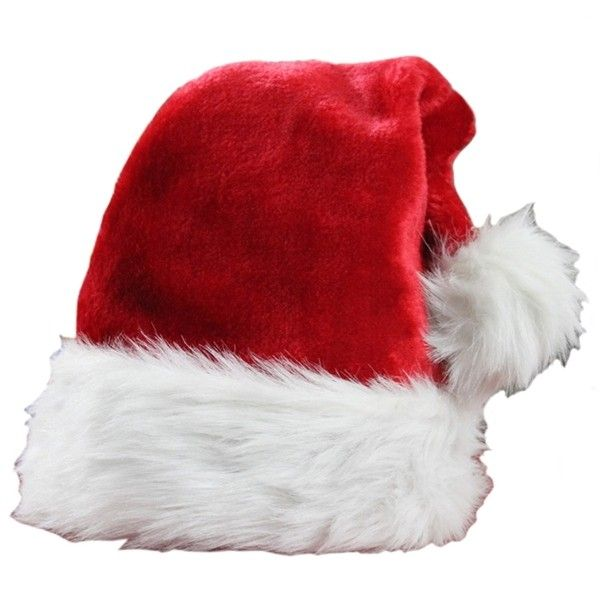 Red Modern Womens Flannel Santa Christmas Hat ($2.09) ❤ liked on Polyvore featuring accessories, hats, christmas, xmas, red, red christmas hat, red hat and christmas hats