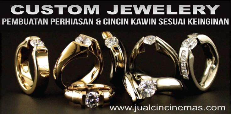 custom jewelery cincin kawin perhiasan emas perak palladium platinum