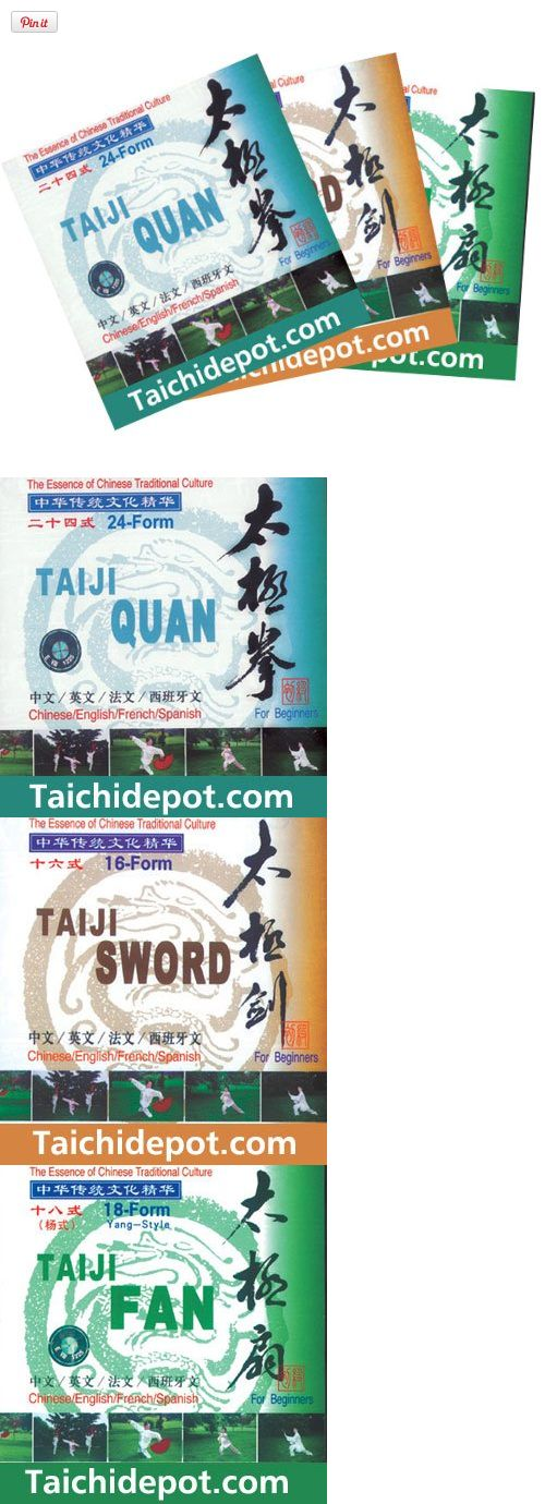 Tai Chi (Yang Style) for Beginner Series DVD - Tai Chi Chuan, Sword Form, Fan Form - 3 DVD Discs, This Yang style Tai Chi instruction series DVD includes 24 forms Tai Chi Chuan, 16 forms Tai Chi Sword and 18 forms Tai Chi Fan.   Disc 1: The 24 Form Tai Chi is also known as the simplified Tai Chi C..., #Sporting Goods, #Exercise Videos