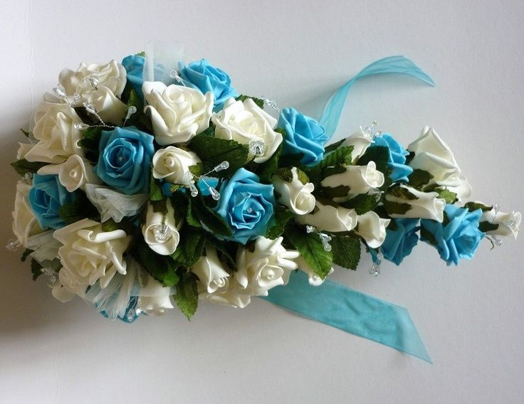 Turquoise brides shower