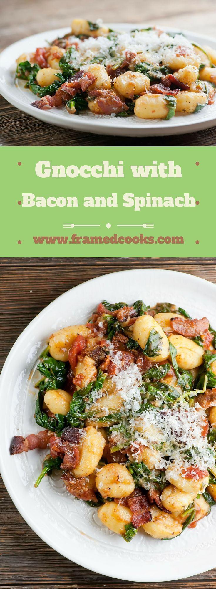 This recipe for gnocchi with bacon and spinach is so easy to make, and also lets you in on where you can buy the best bacon in the world!