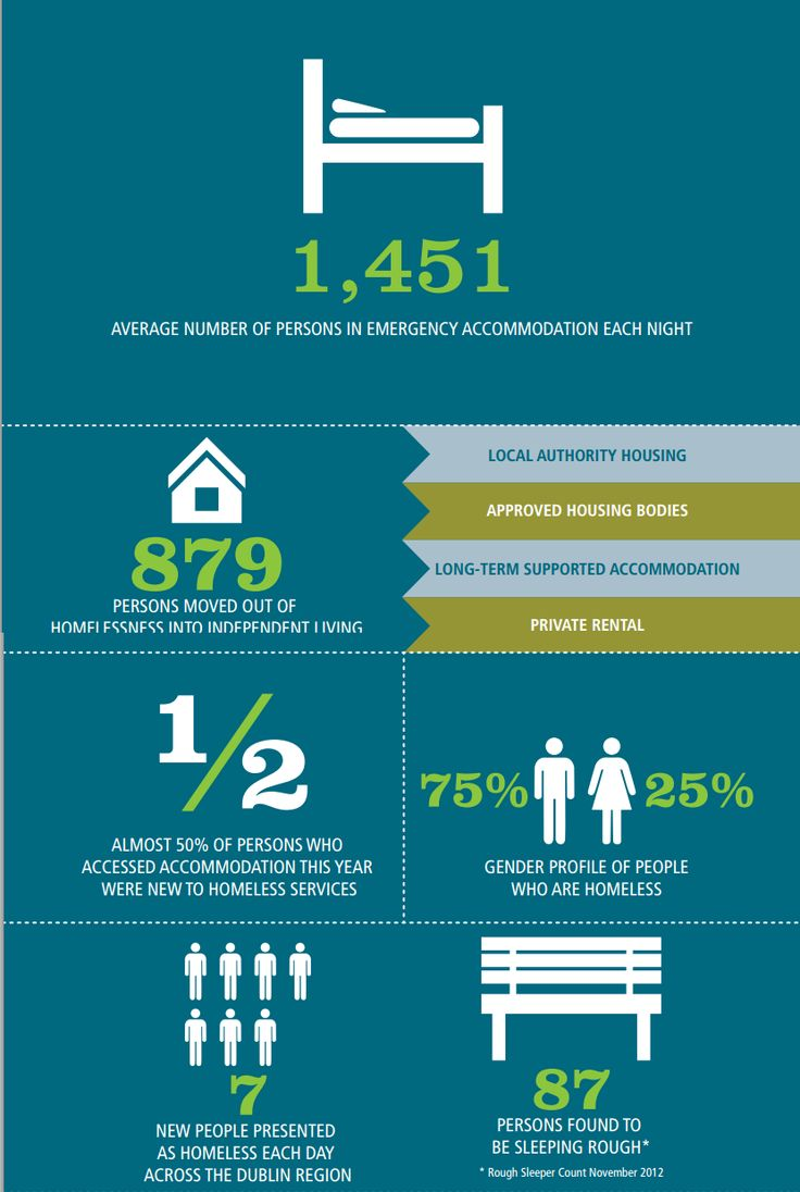 006 infographic showing the extent of homeless problem in