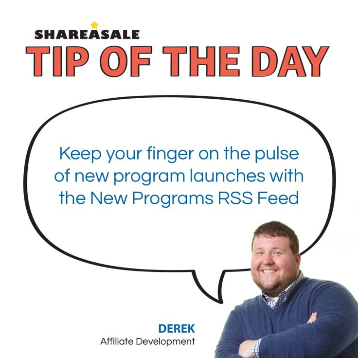 TOTD: New Programs RSS Feed - #RSSfeeds #affiliatetips