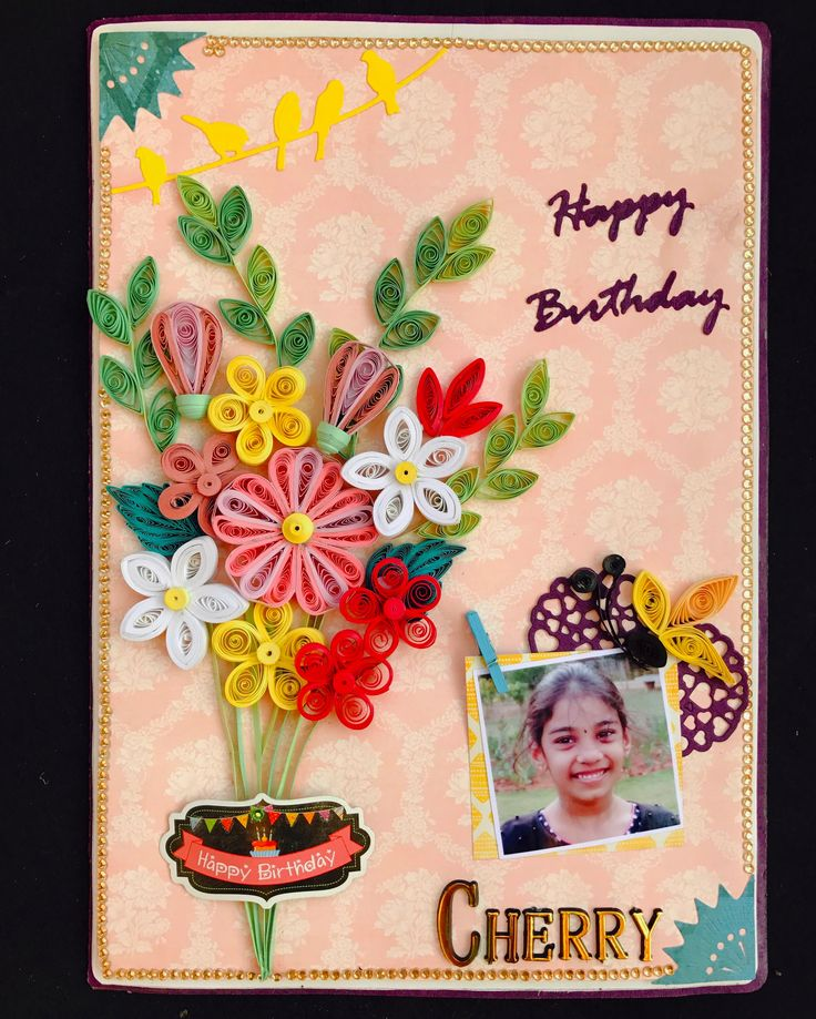 Quilled Card, Quilling, Handmade quilled card