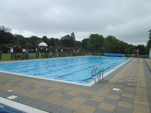 Jubilee Park outdoor pool in Woodhall Spa, Lincolnshire