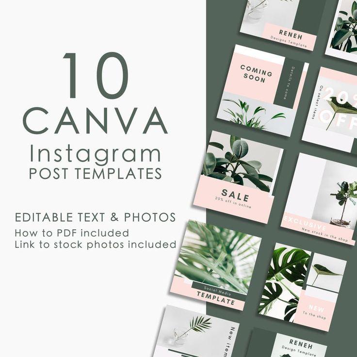Canva social media, Canva template, Editable template