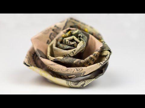 Geldgeschenk Idee Hochzeit – Rose aus Geld basteln…