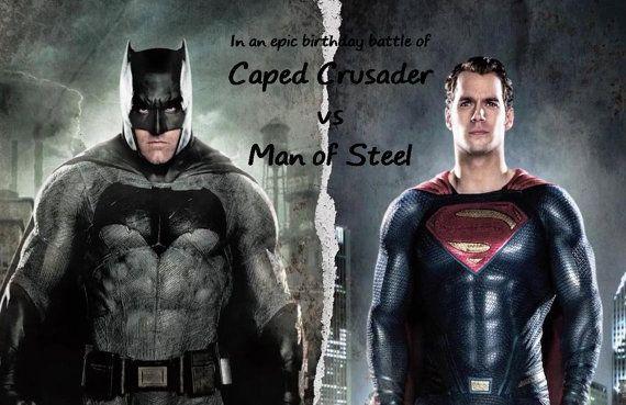 Batman Vs Superman Joint Birthday by DreamDesignsbyBriana on Etsy