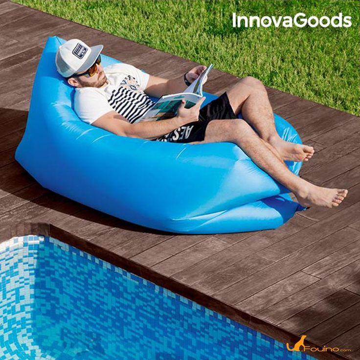 Chaise longue auto gonflable : Préparez l'été avec cette pratique et originale chaise longue auto-gonflable : gadget Cool ! Parfaite pour se reposer confortablement lors des sorties à la montagne, au camping, à la plage, à la piscine, aux festivals en plein air, etc. Elle est également  idéale comme fauteuil ou lit d'appoint.