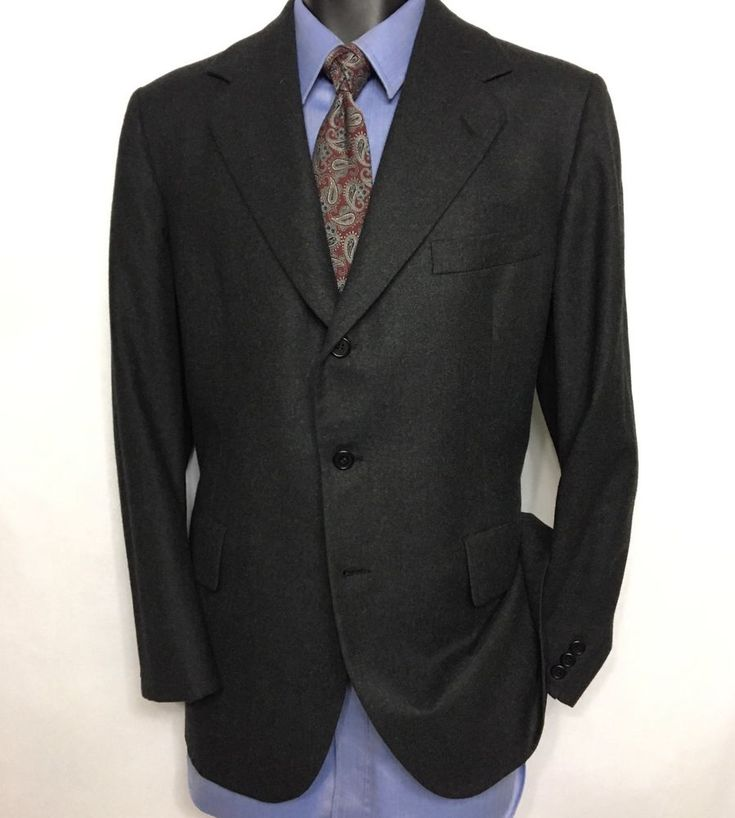 HICKEY FREEMAN Mens Gray Suit Jacket Size 40S | 100% Wool 3 Button Sport Coat #HickeyFreeman #ThreeButton